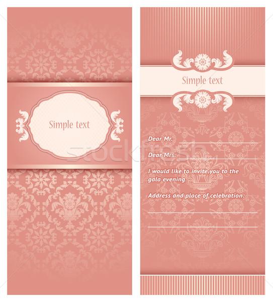 Invitation template Stock photo © Ecelop