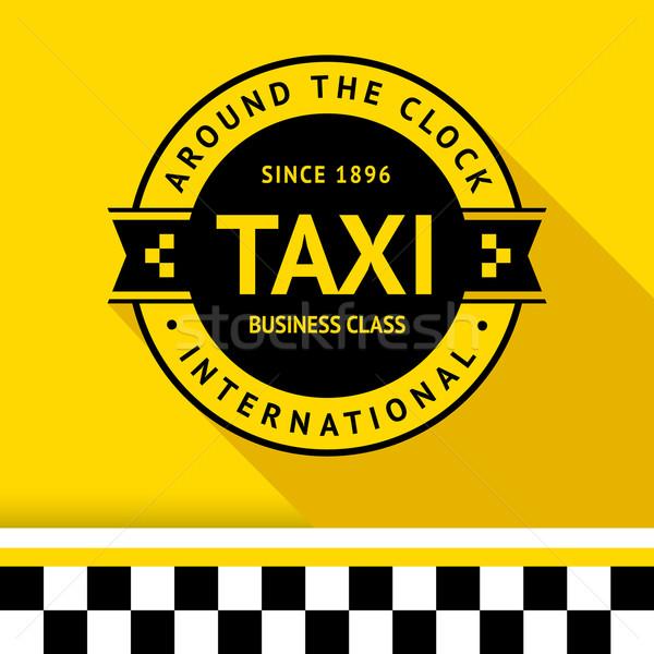 Taxi badge 13 schaduw business weg Stockfoto © Ecelop