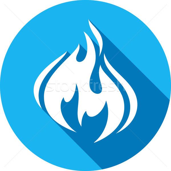 fire bonfire flame circle shape Stock photo © Ecelop