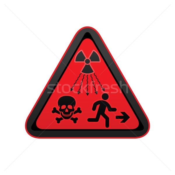 Hazard warning radiation symbol Stock photo © Ecelop
