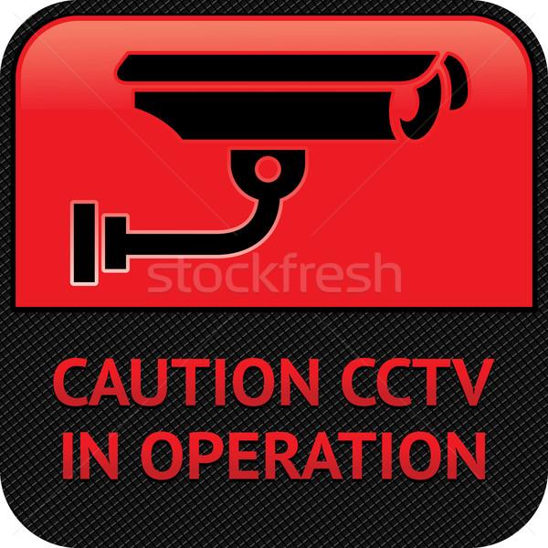 Cctv piktogram wideo inwigilacja symbol aparatu bezpieczeństwa Zdjęcia stock © Ecelop