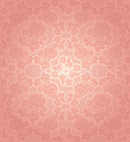 Lace background, ornamental pink flowers template Stock photo © Ecelop