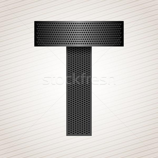 Letter metal ribbon - T Stock photo © Ecelop