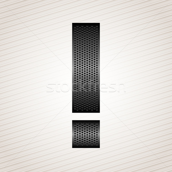 Letter metal ribbon - exclamation mark Stock photo © Ecelop
