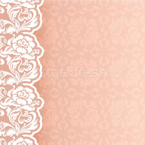 Spitze Hochzeit Mode Schönheit Blätter erotischen Stock foto © Ecelop