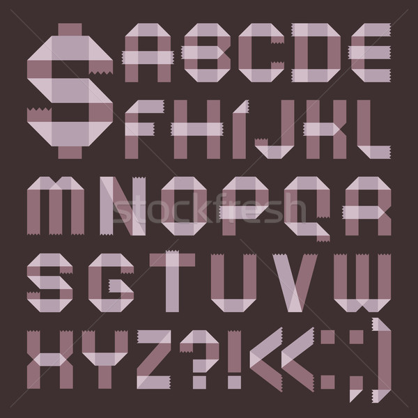 Font from lilac scotch tape -  Roman alphabet Stock photo © Ecelop