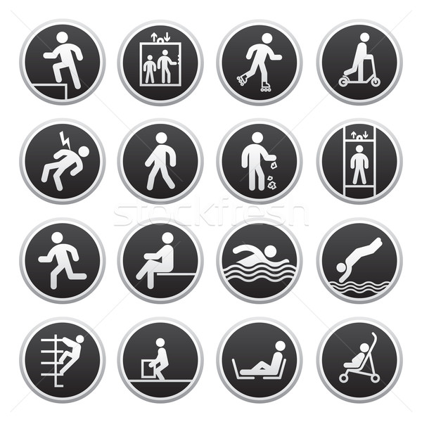 Prohibited Signs vector Stock photo © Ecelop