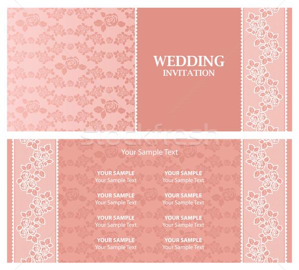 Düğün davetiyesi şablon doku gül arka plan Stok fotoğraf © Ecelop