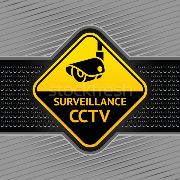 Cctv symbol on a background industrial template Stock photo © Ecelop
