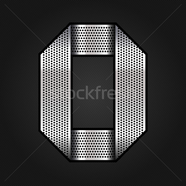 Numero metal cromo nastro pari a zero metallico Foto d'archivio © Ecelop