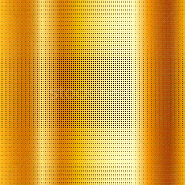 Perforated scratched mettalic gold sheet Stock photo © Ecelop