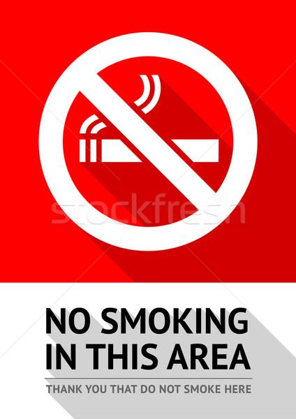 Címke dohányozni tilos matrica törvény repülőtér információ Stock fotó © Ecelop
