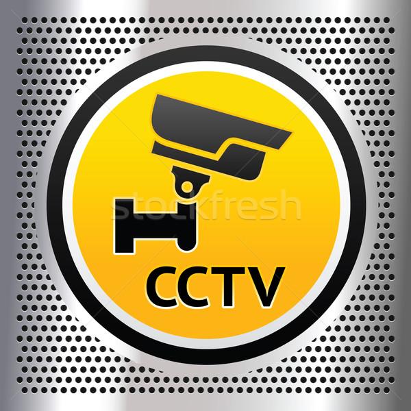 Cctv símbolo prata tecnologia informação Foto stock © Ecelop