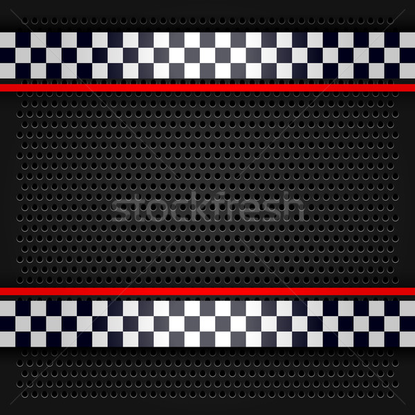 Sheet metallic perforated for race Stock photo © Ecelop