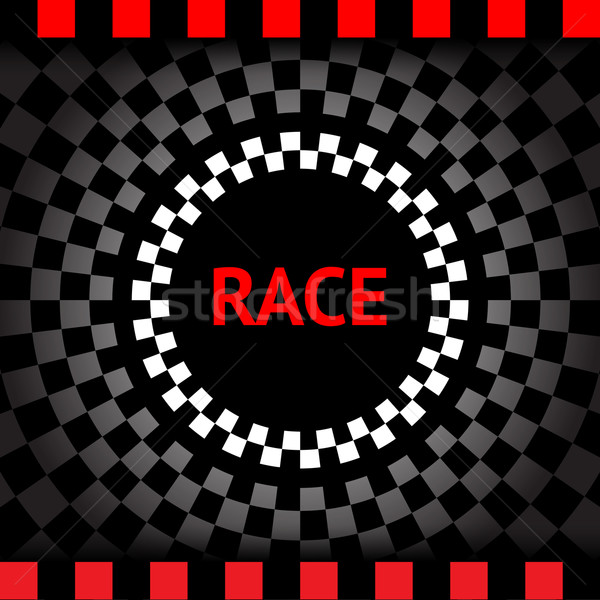 Race-square-black-background Stock photo © Ecelop