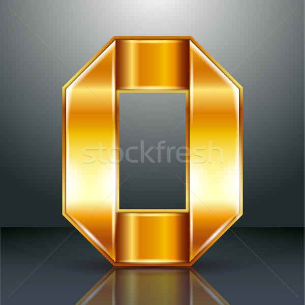 числа металл золото лента нулевой арабский Сток-фото © Ecelop