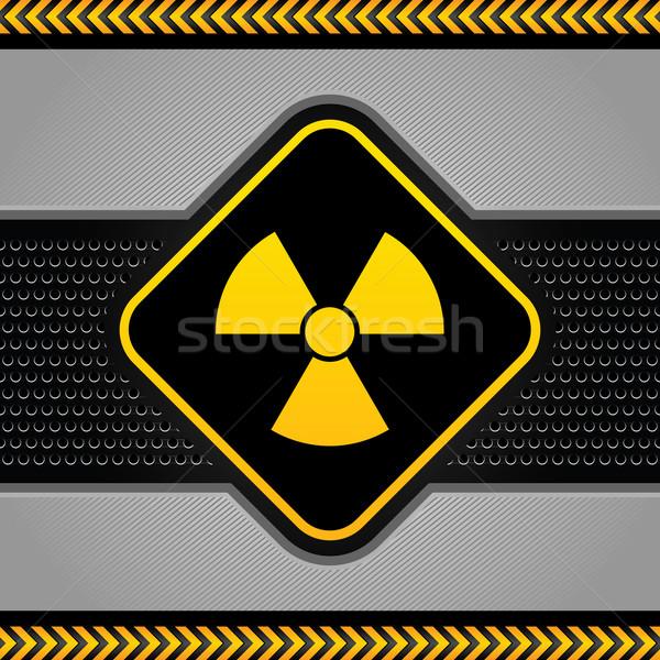 Radioactieve symbool abstract industriële sjabloon achtergrond Stockfoto © Ecelop