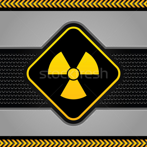 Radyoaktif simge soyut endüstriyel şablon arka plan Stok fotoğraf © Ecelop