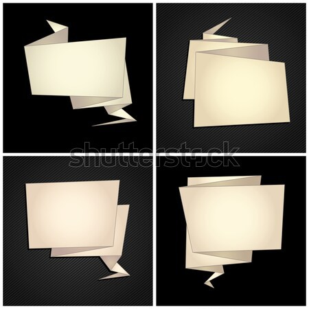 Origami set, folded paper, speech bubble Stock photo © Ecelop
