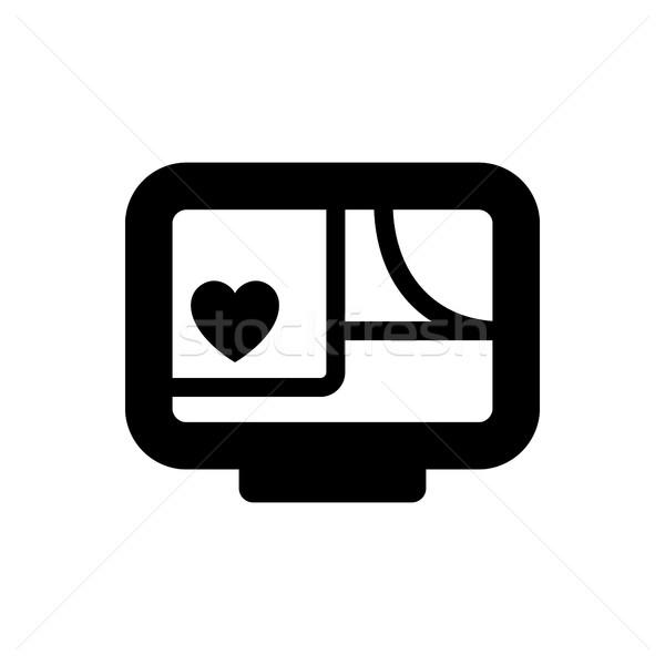 Romantyczny miłości symbol walentynki podpisania czarny Zdjęcia stock © Ecelop