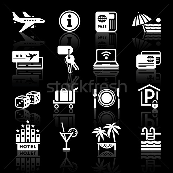 Stock photo: Recreation, Travel & Vacation, icons set.