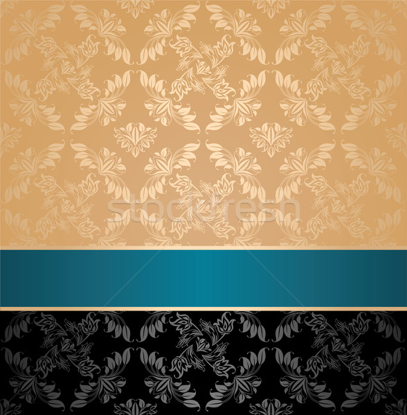 Seamless pattern, floral decorative background Stock photo © Ecelop