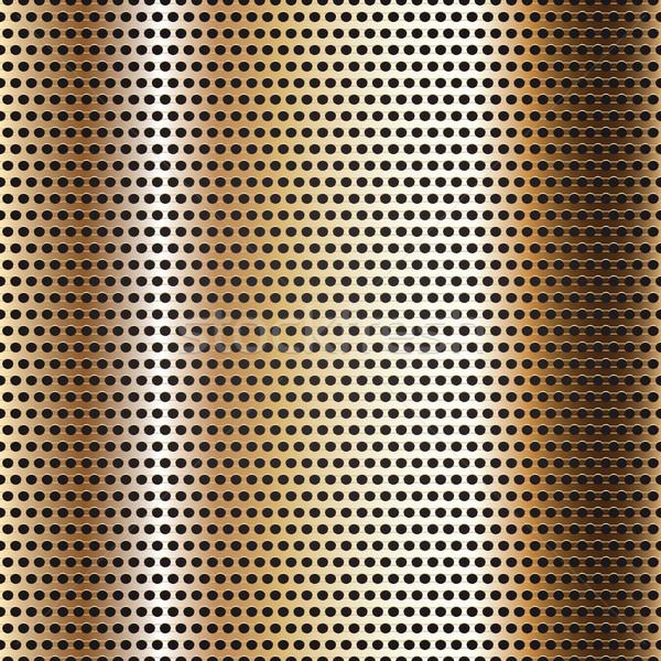 Sin costura cromo superficie de metal dorado hoja resumen Foto stock © Ecelop