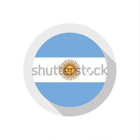 Bandeira Argentina assinar viajar país botão Foto stock © Ecelop