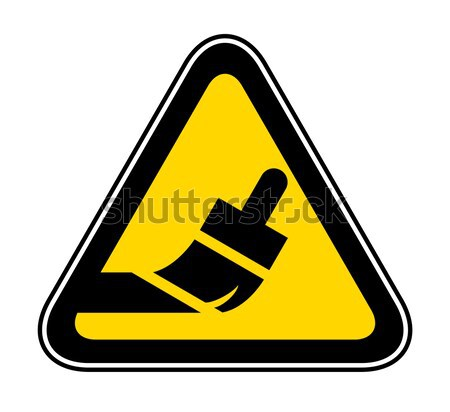 Triangular Warning Hazard Symbol Stock photo © Ecelop