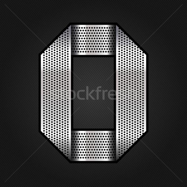 Levél fém króm szalag fémes króm Stock fotó © Ecelop