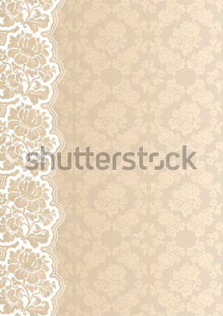Background with lace, square sheet Stock photo © Ecelop