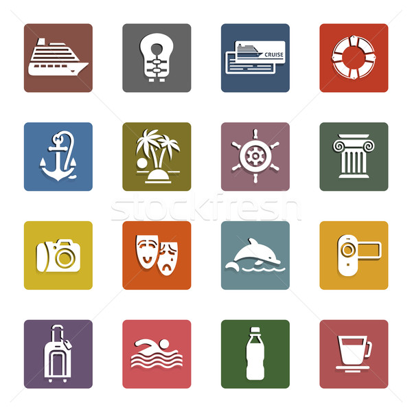 Travel, Vacation & Recreation, icons set Stock photo © Ecelop