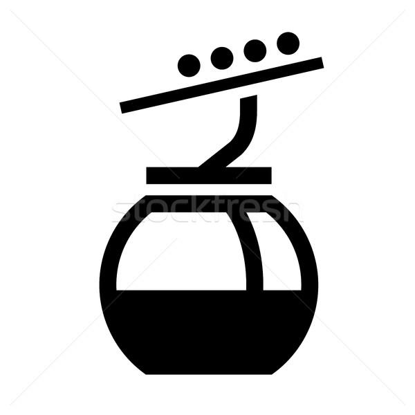 Stock photo: Black icon isolated on white background, flat style