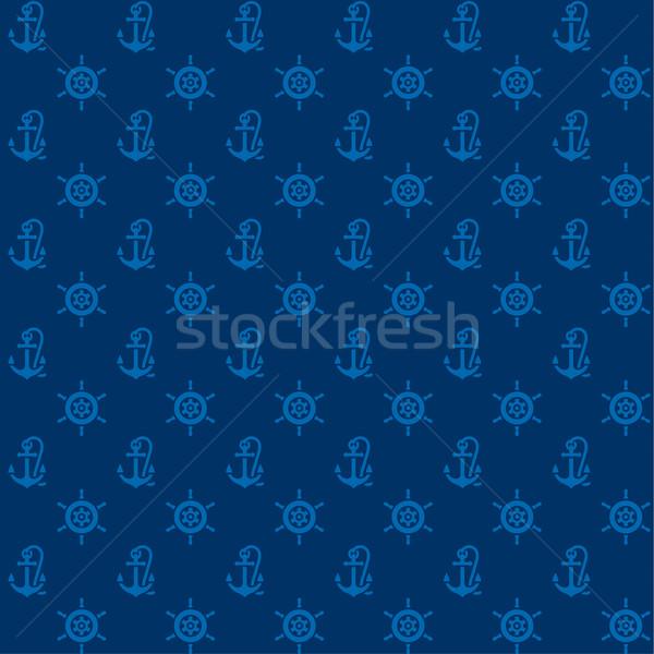 Azul volante vetor ilustrações mar Foto stock © Ecelop