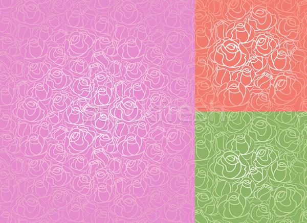 Rosen muster tapete vektor fr hjahr hochzeit for Muster tapete