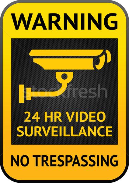 Video surveillance label Stock photo © Ecelop