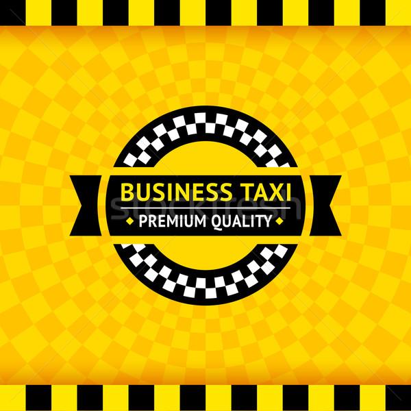 タクシー シンボル ビジネス 道路 市 ストックフォト © Ecelop