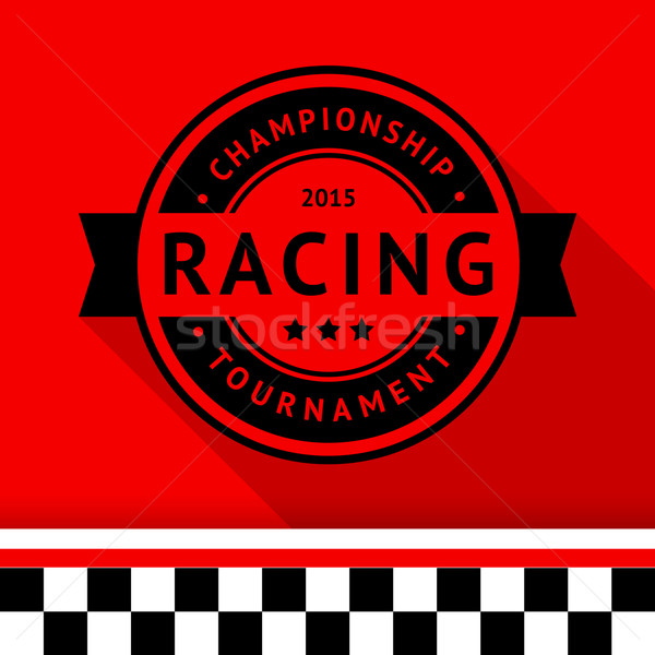 Racing stamp-15 Stock photo © Ecelop
