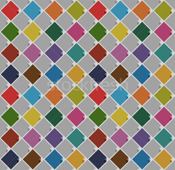 seamless background from blank squares old color Stock photo © Ecelop