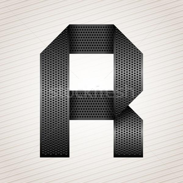 Letter metal ribbon - R Stock photo © Ecelop