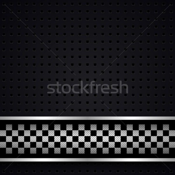 Structured dark metallic perforated for race sheet Stock photo © Ecelop