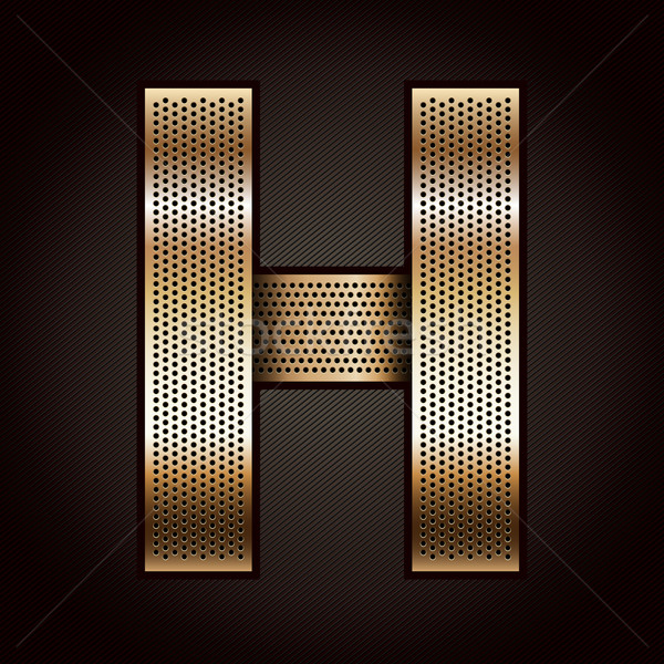 Letter metal gold ribbon - H Stock photo © Ecelop