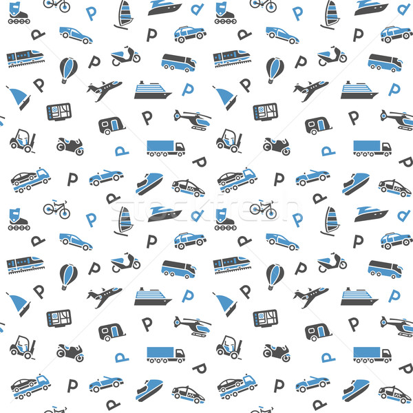 Seamless background, transport icons, wallpaper. 10eps Stock photo © Ecelop