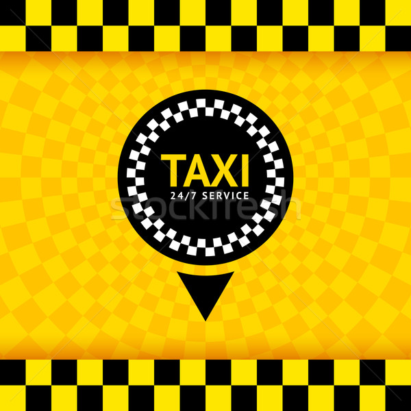 Taxi symbol, new background, vector illustration 10eps Stock photo © Ecelop