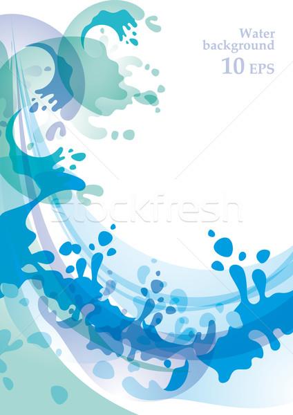 Víz 10 eps dizájn elem természet tenger Stock fotó © Ecelop