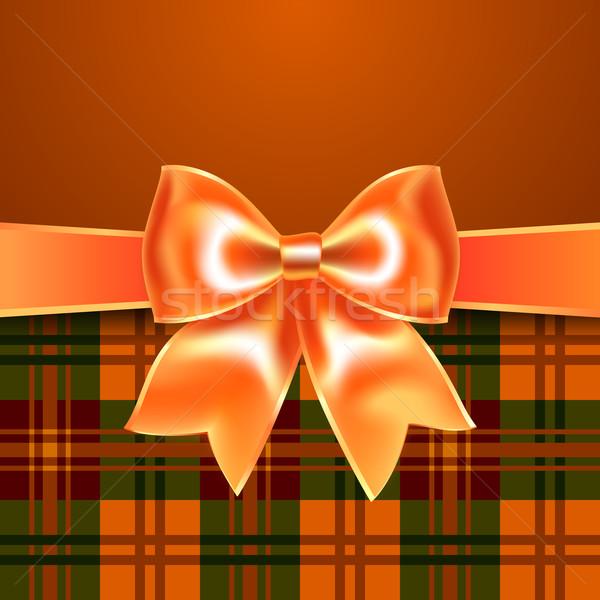 Stock fotó: Szalag · íj · narancs · tökéletes · meghívó · gratuláció