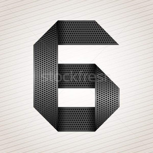 Number metal ribbon - 6 - six Stock photo © Ecelop