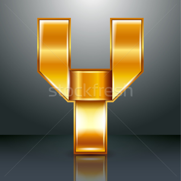 Letter metal gold ribbon - Y Stock photo © Ecelop