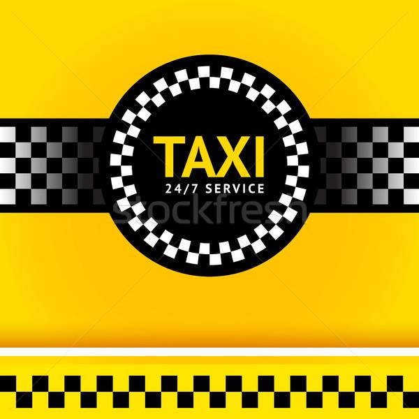 Taxi szimbólum tér üzlet papír autó Stock fotó © Ecelop