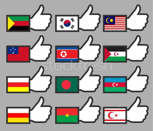 Foto stock: Banderas · signo · viaje · país · política